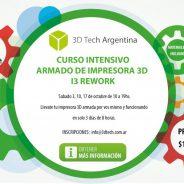Curso de armado de impresora 3D. Llevate tu impresora