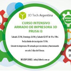 Curso de armado de impresora 3D – 25/06 -26/06 – 02/07